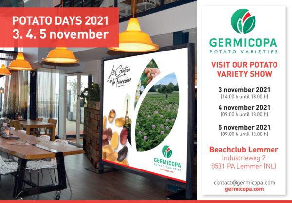 Annonce Potato Days Germicopa 2021